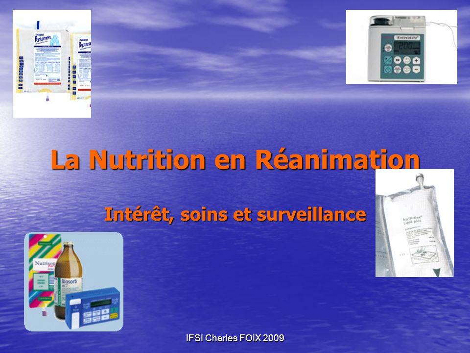 La Nutrition en Réanimation