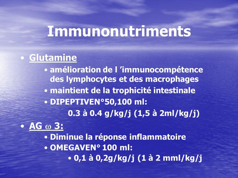Immunonutriments Glutamine AG  3: