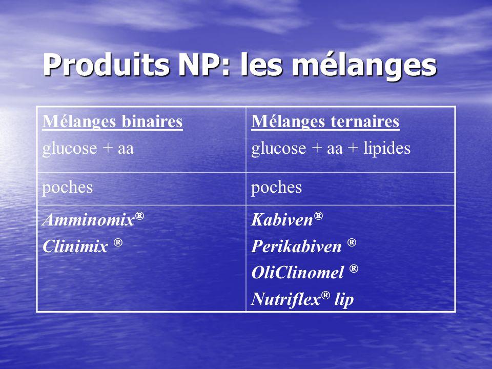 Produits NP: les mélanges