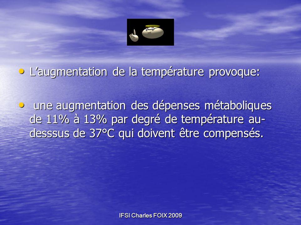 L'augmentation de la température provoque: