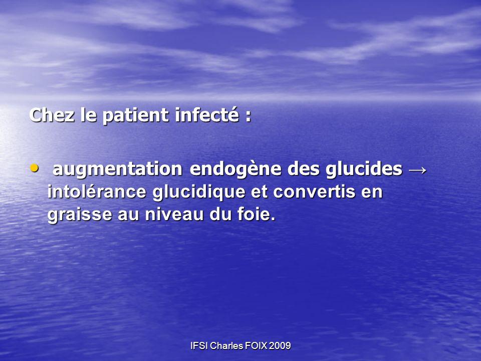 Chez le patient infecté :