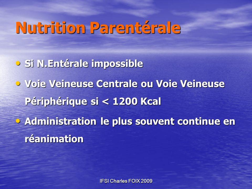 Nutrition Parentérale