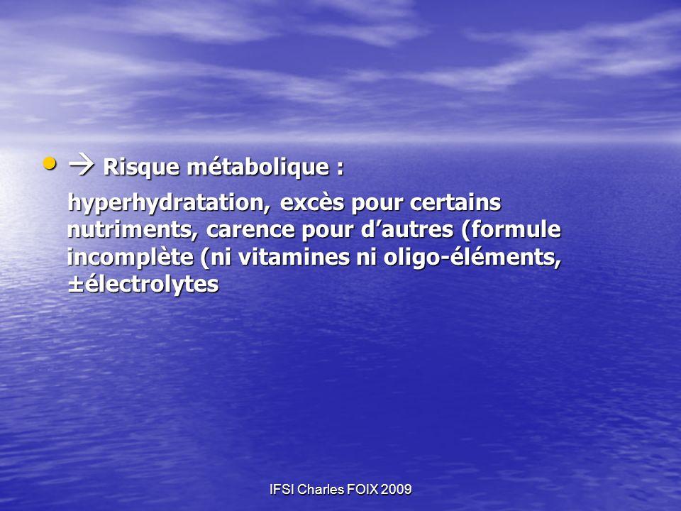  Risque métabolique :