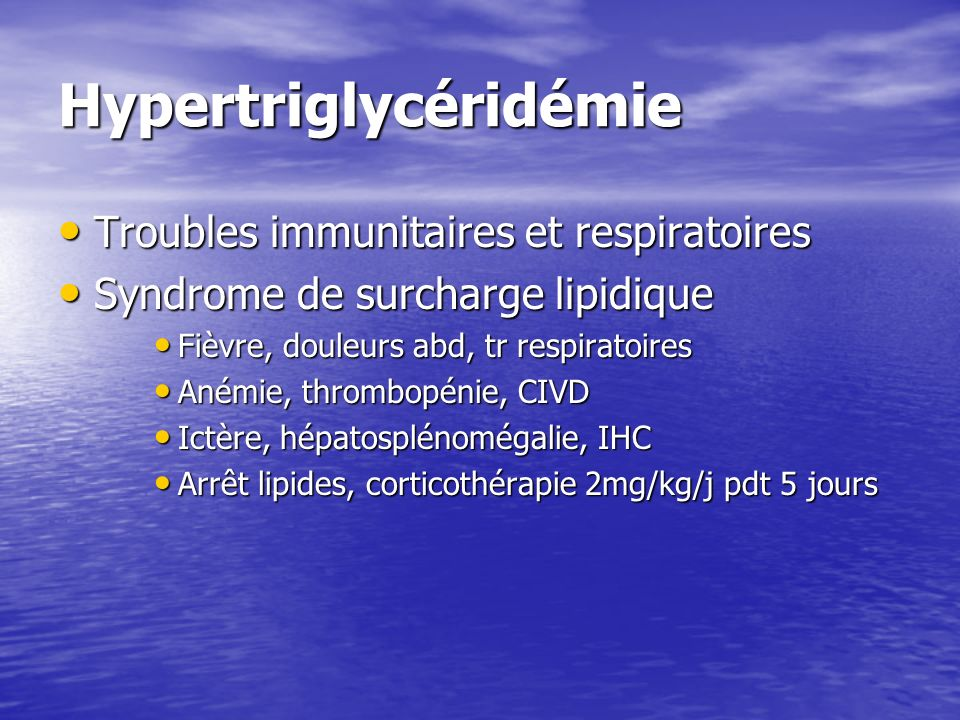 Hypertriglycéridémie