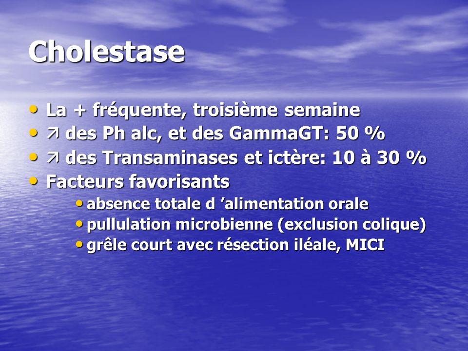 Cholestase La + fréquente, troisième semaine