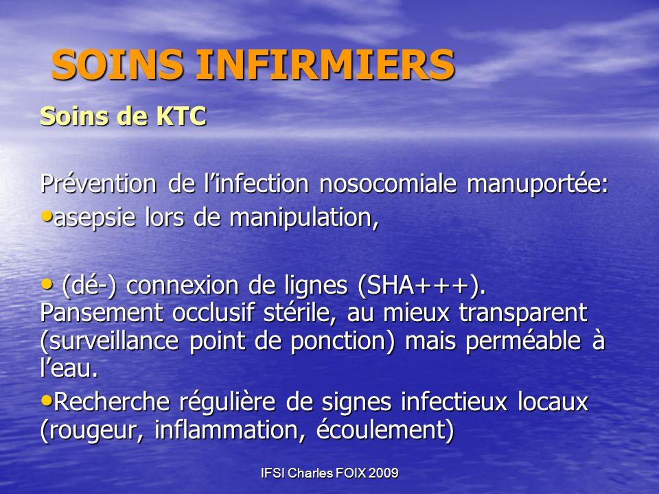 SOINS INFIRMIERS Soins de KTC