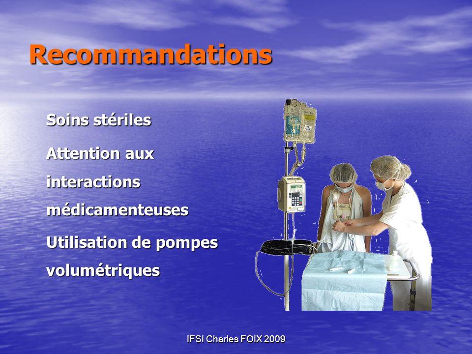 Recommandations Soins stériles
