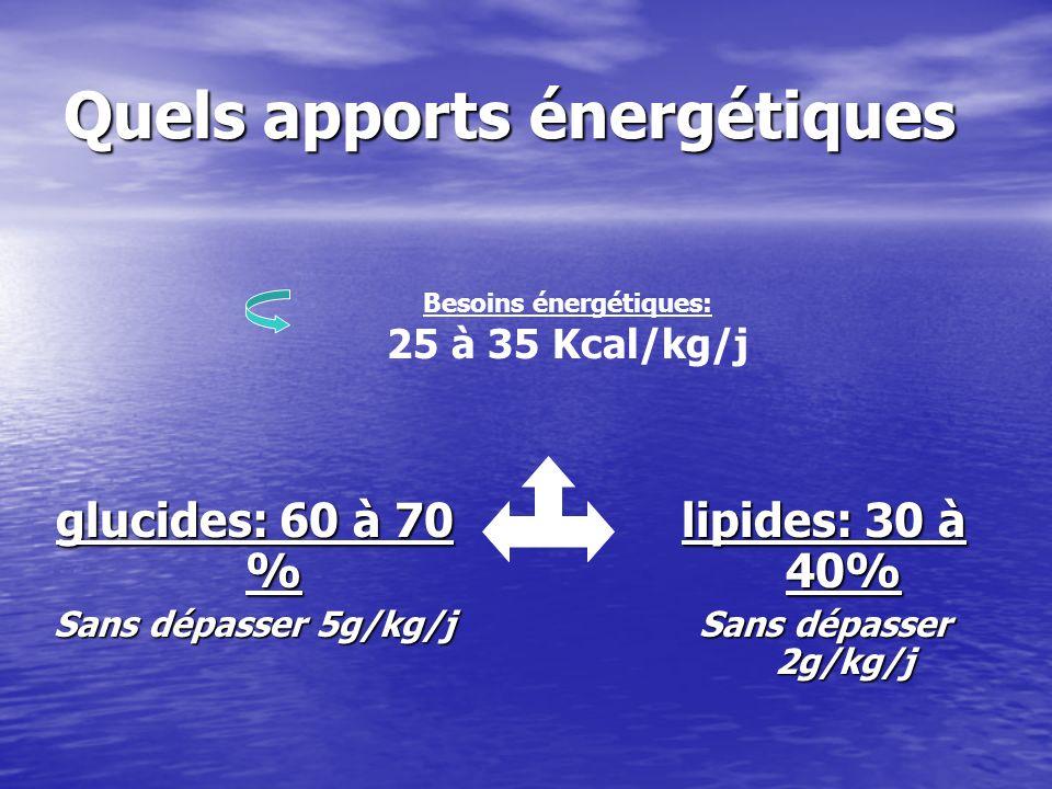 Quels apports énergétiques