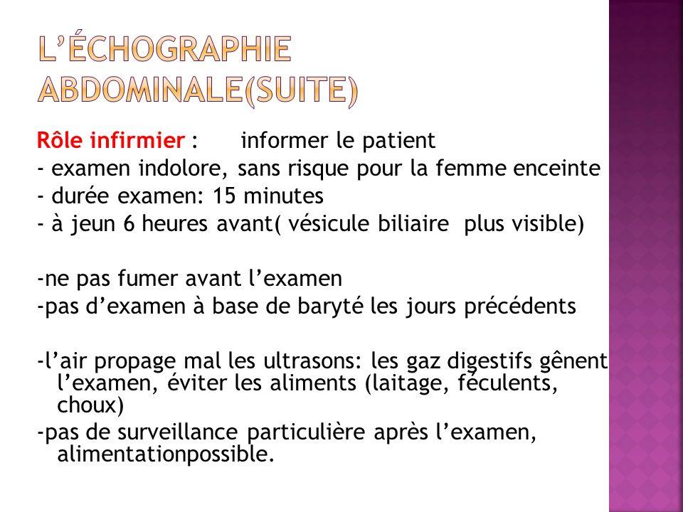 L'échographie abdominale(suite)