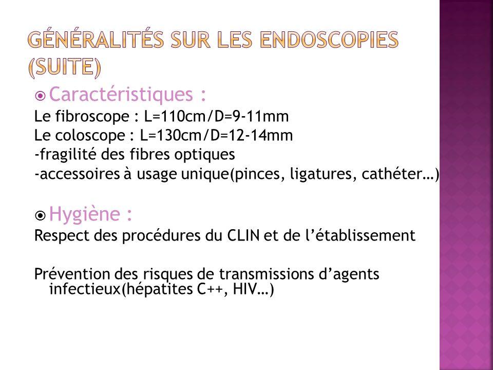 Généralités sur les endoscopies (suite)