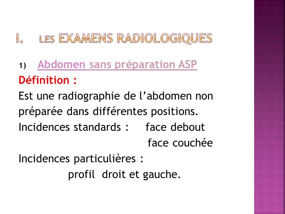 i. Les examens radiologiques