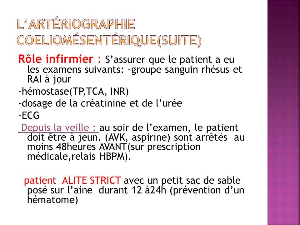L'artériographie coeliomésentérique(suite)