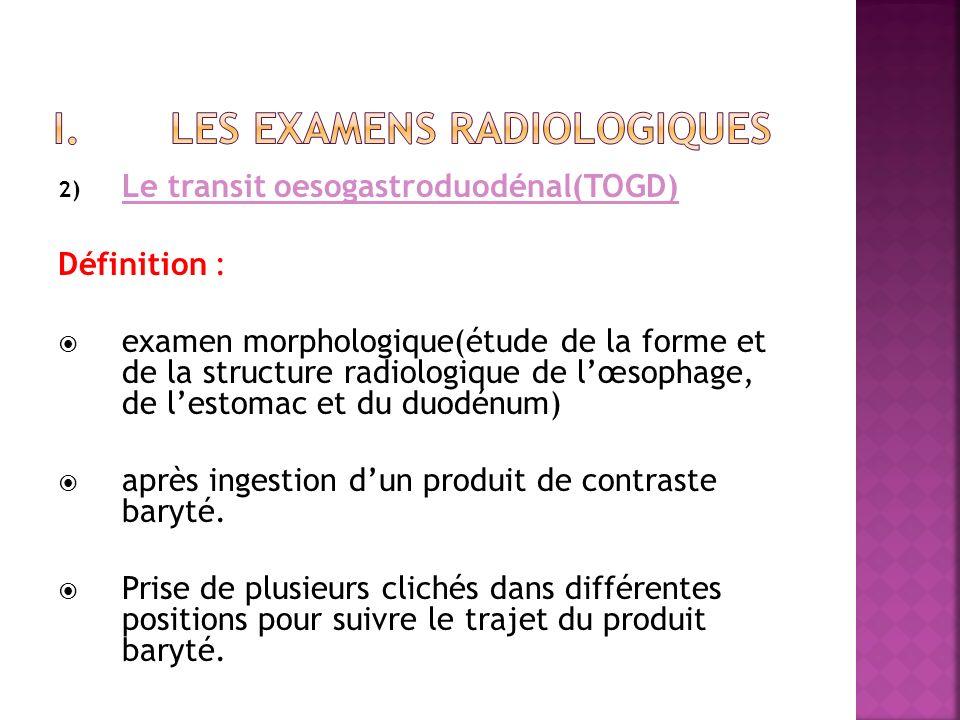 Les examens radiologiques