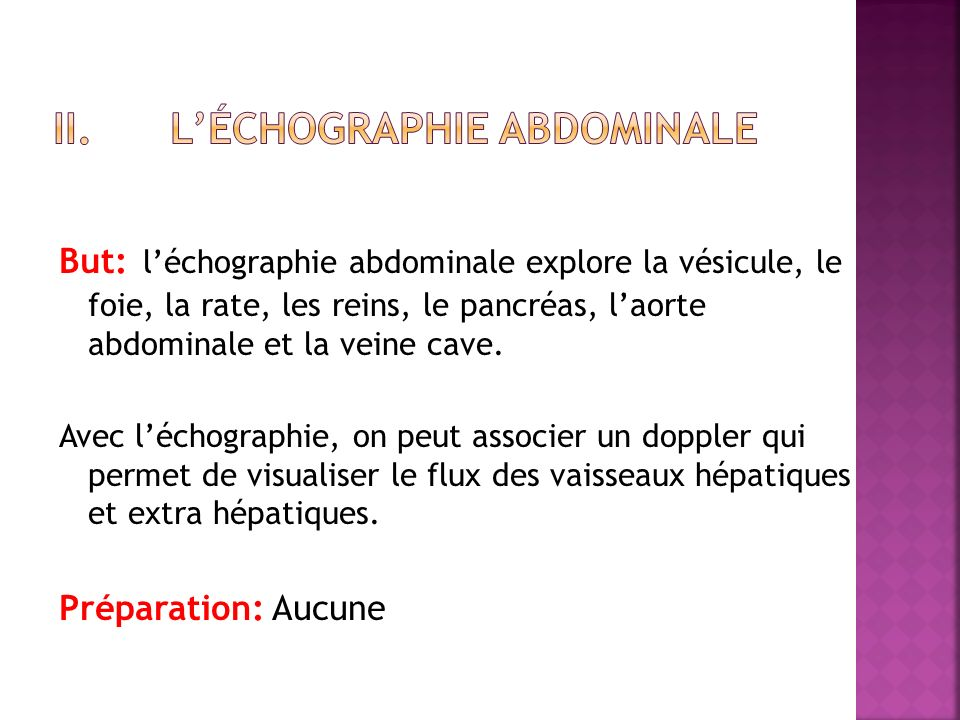 L'échographie abdominale