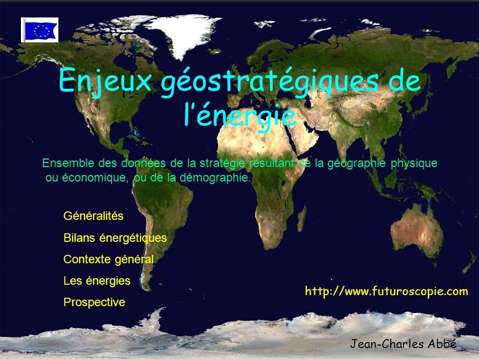 Enjeux géostratégiques de l'énergie