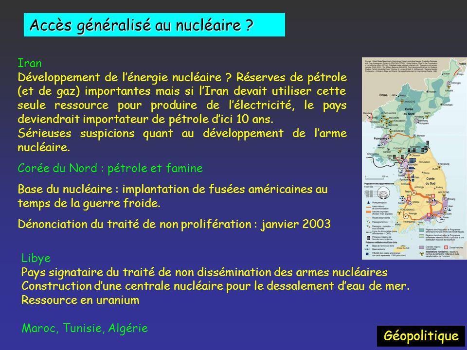 Accès généralisé au nucléaire