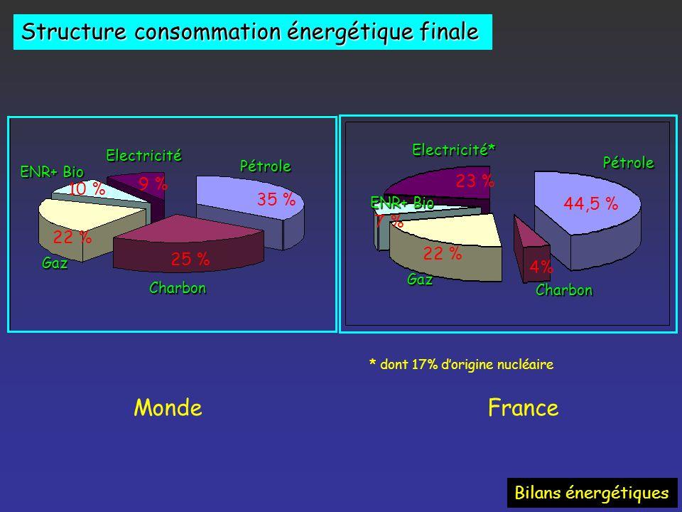 Structure consommation énergétique finale