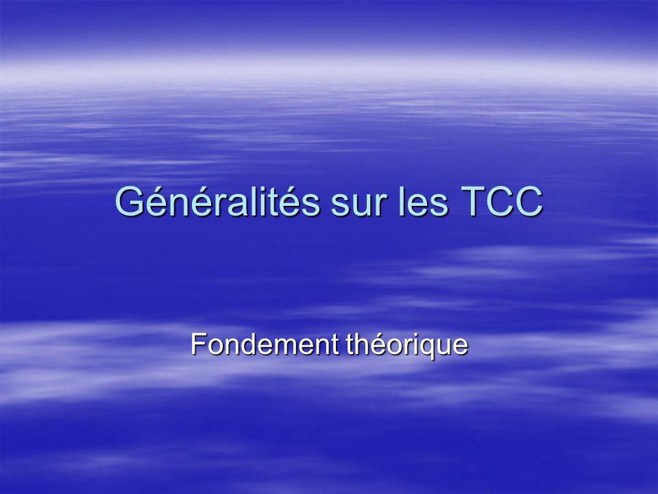 Généralités sur les TCC