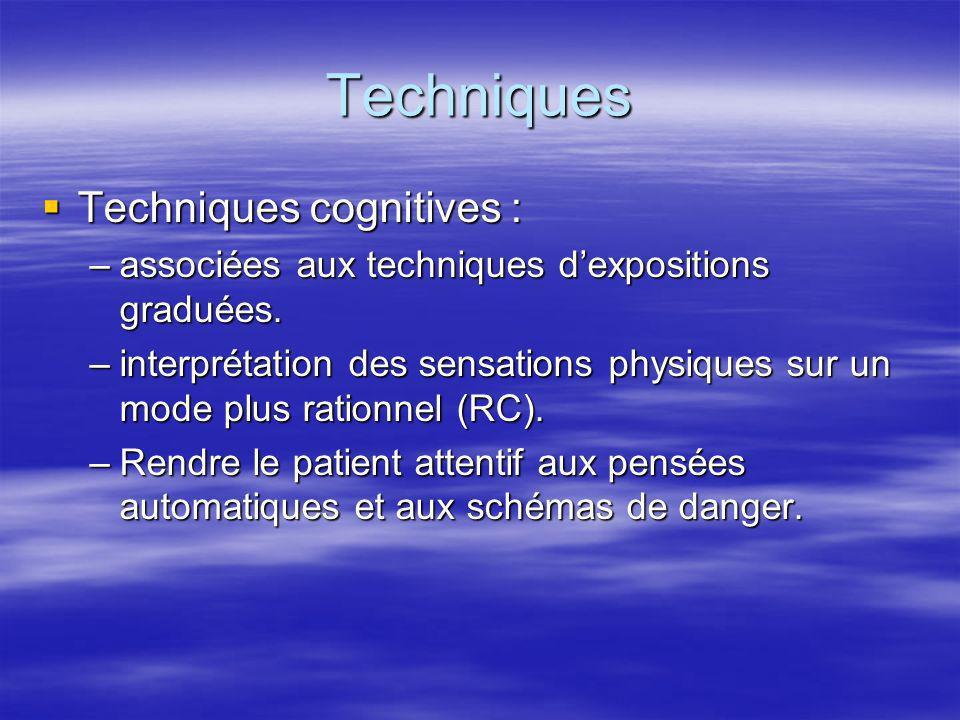 Techniques Techniques cognitives :