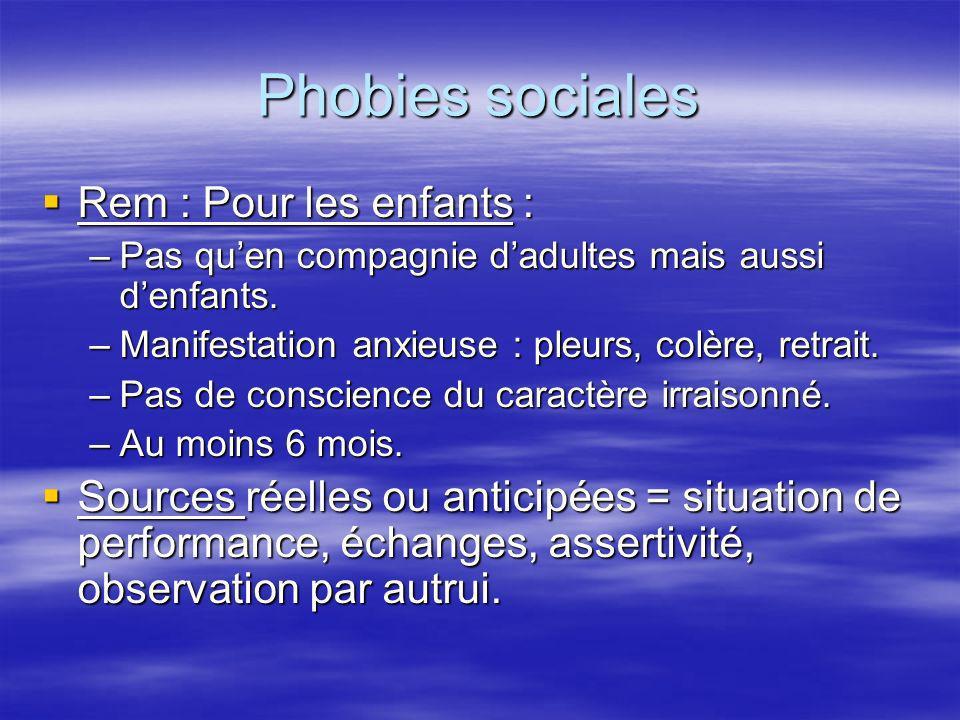 Phobies sociales Rem : Pour les enfants :