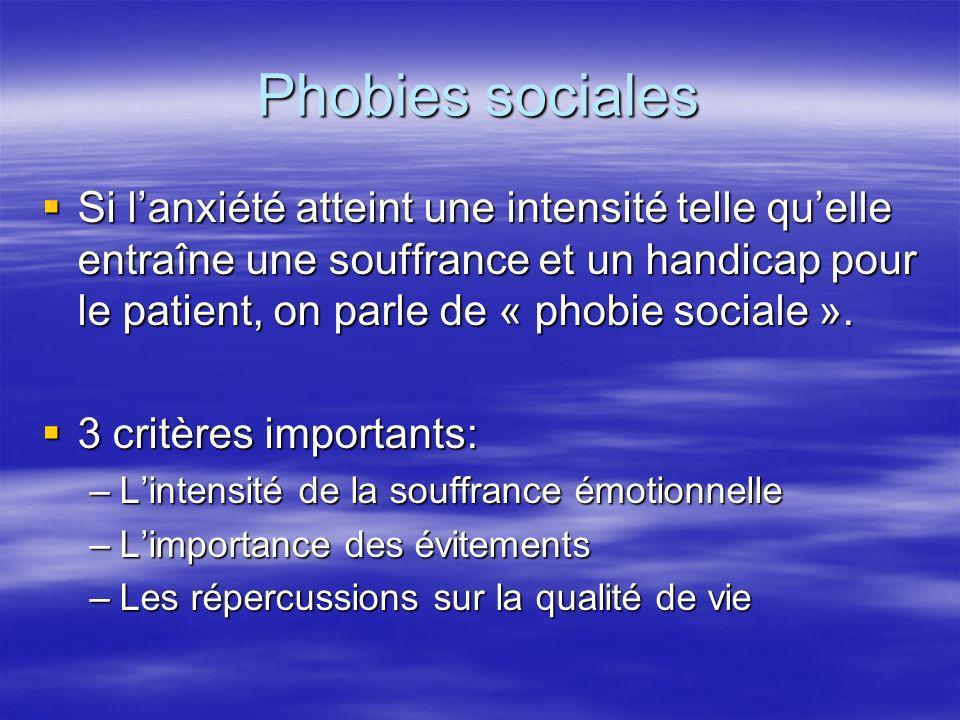 Phobies sociales