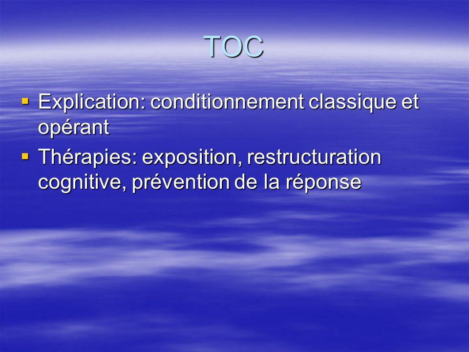 TOC Explication: conditionnement classique et opérant