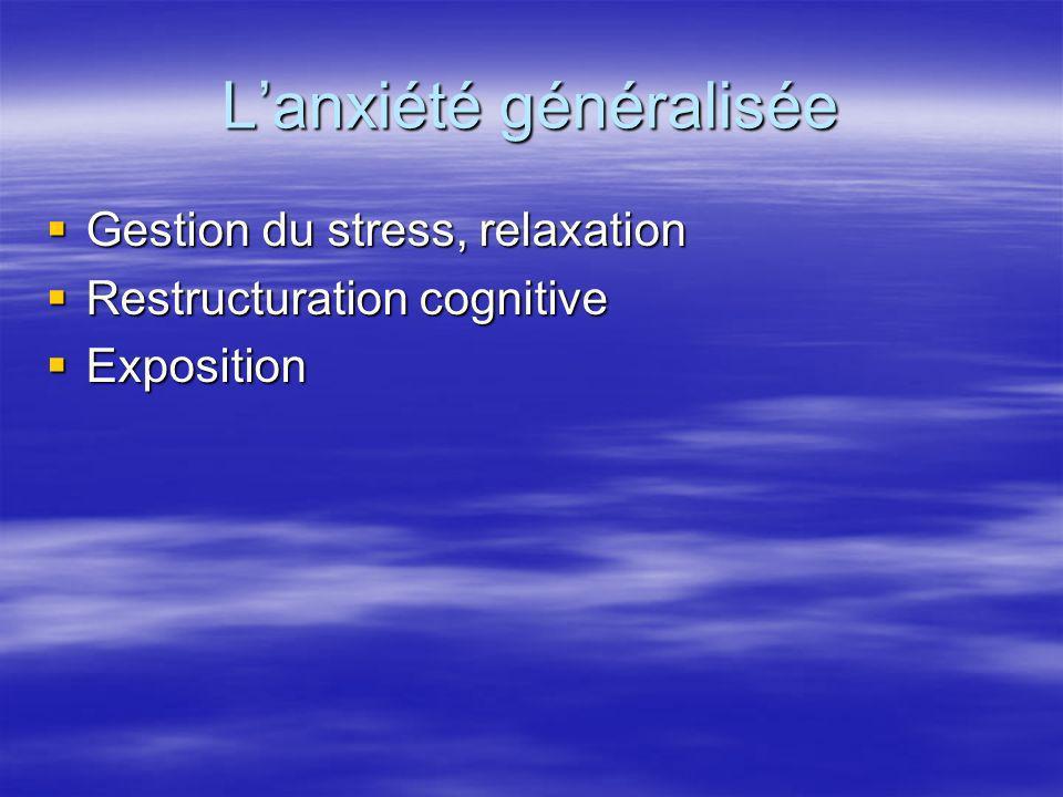 L'anxiété généralisée