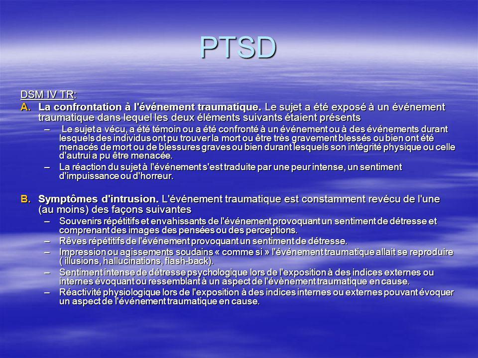 PTSD DSM IV TR: