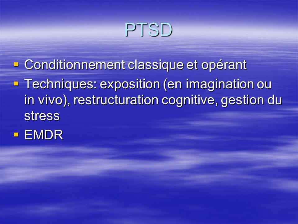 PTSD Conditionnement classique et opérant
