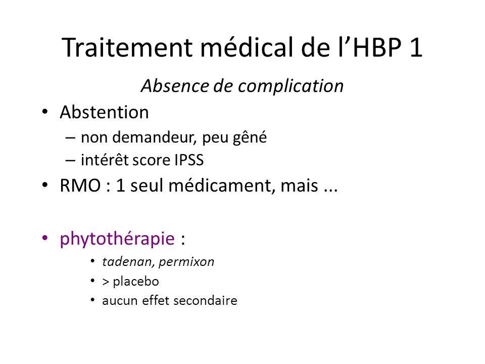 Traitement médical de l'HBP 1