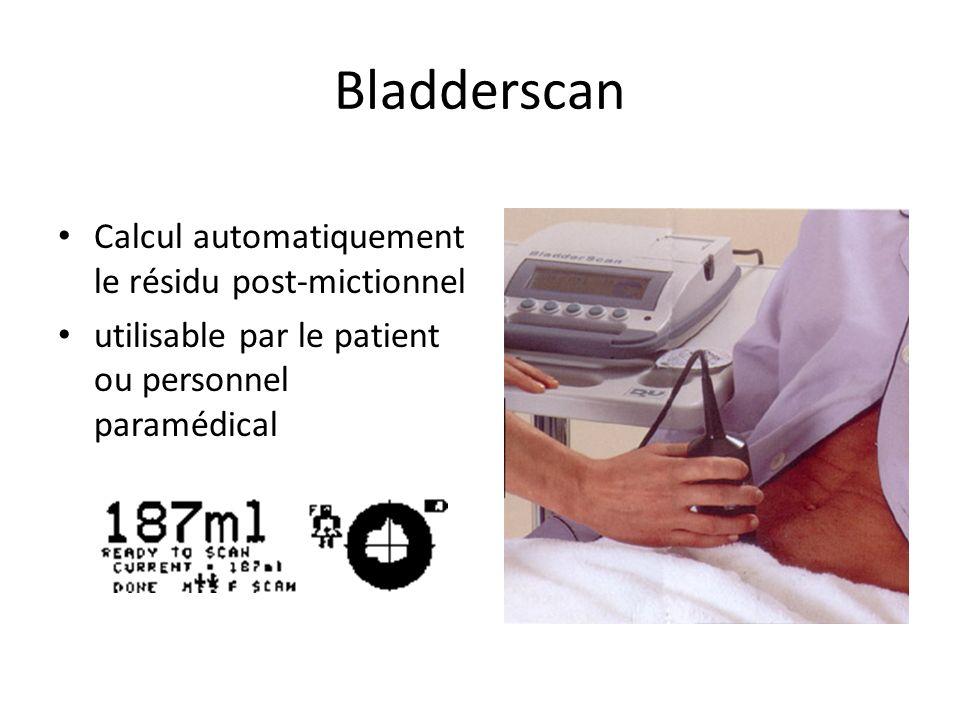 Bladderscan Calcul automatiquement le résidu post-mictionnel