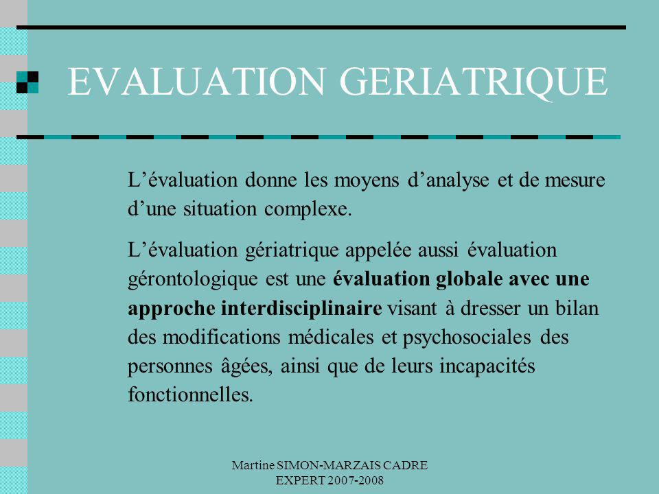 EVALUATION GERIATRIQUE