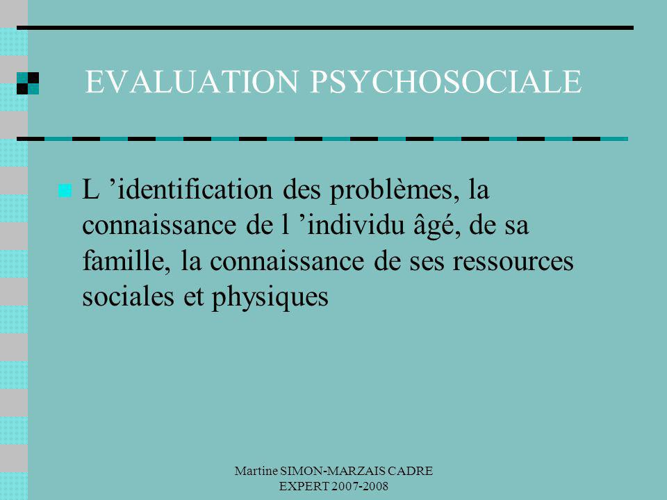 EVALUATION PSYCHOSOCIALE