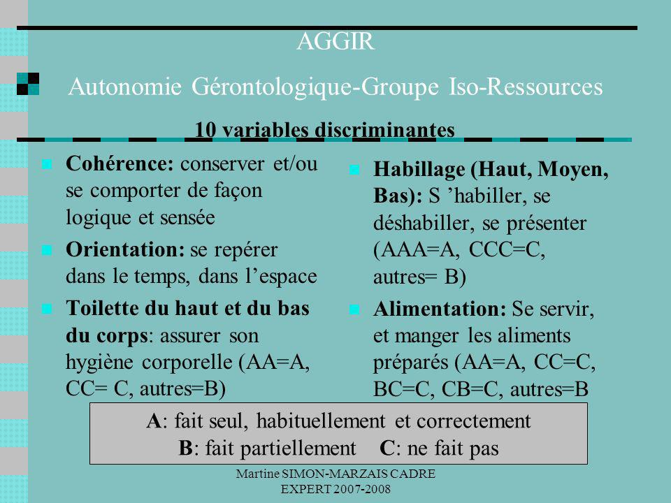 AGGIR Autonomie Gérontologique-Groupe Iso-Ressources