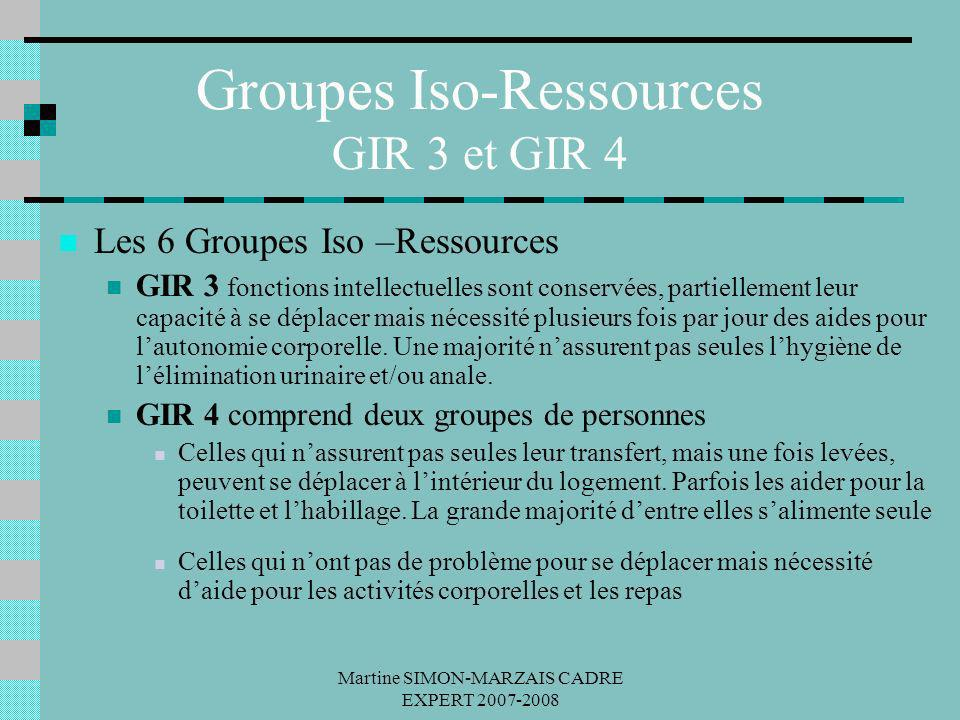 Groupes Iso-Ressources GIR 3 et GIR 4