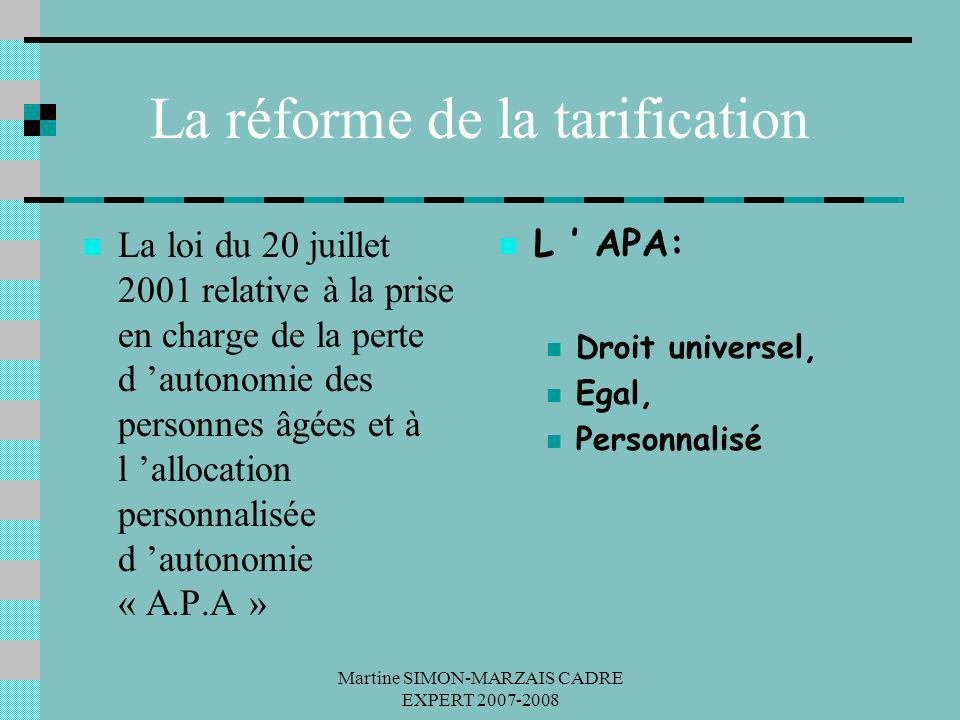 La réforme de la tarification