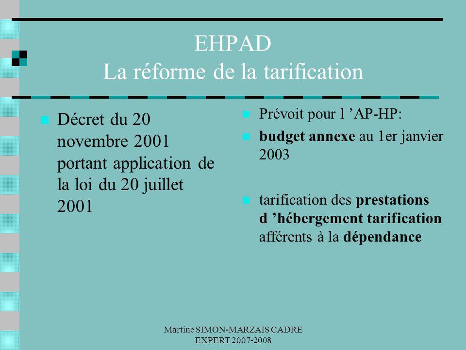 EHPAD La réforme de la tarification