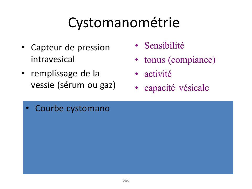 Cystomanométrie Sensibilité Capteur de pression intravesical
