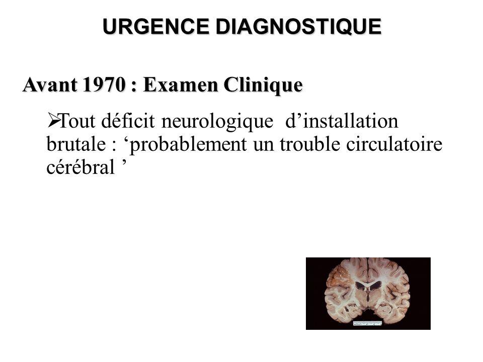 URGENCE DIAGNOSTIQUE Avant 1970 : Examen Clinique.