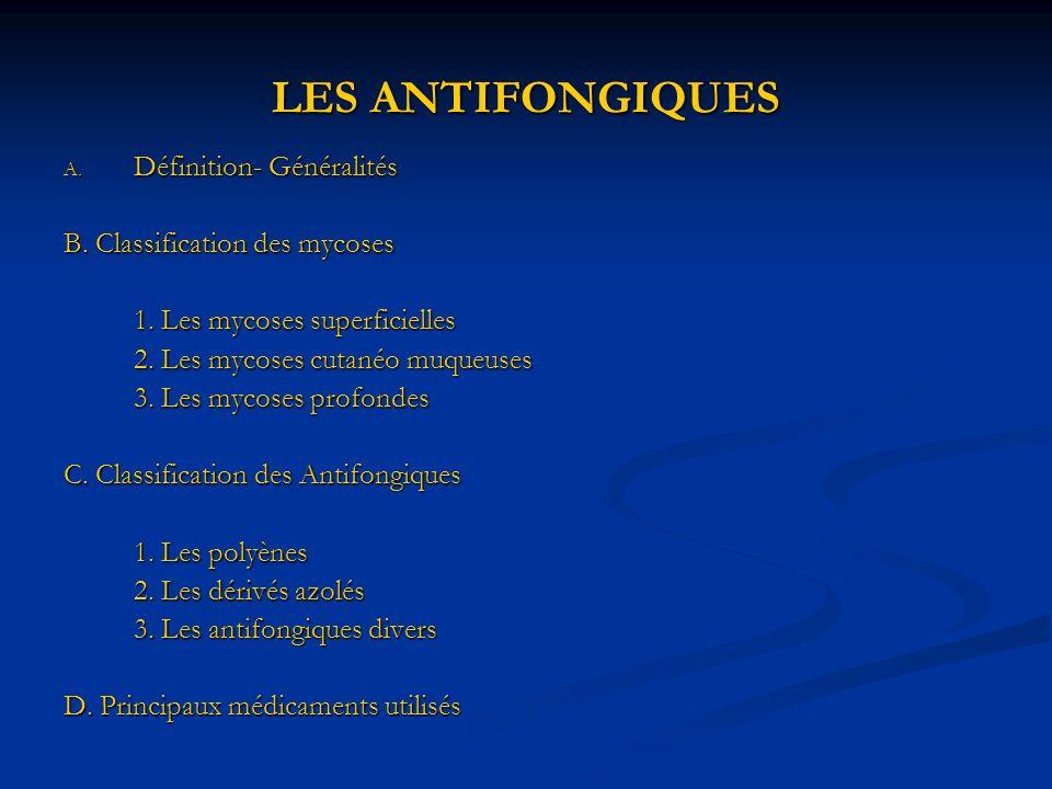 LES ANTIFONGIQUES Définition- Généralités
