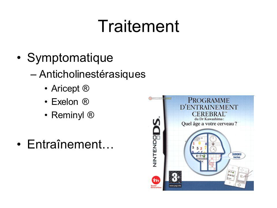 Traitement Symptomatique Entraînement… Anticholinestérasiques