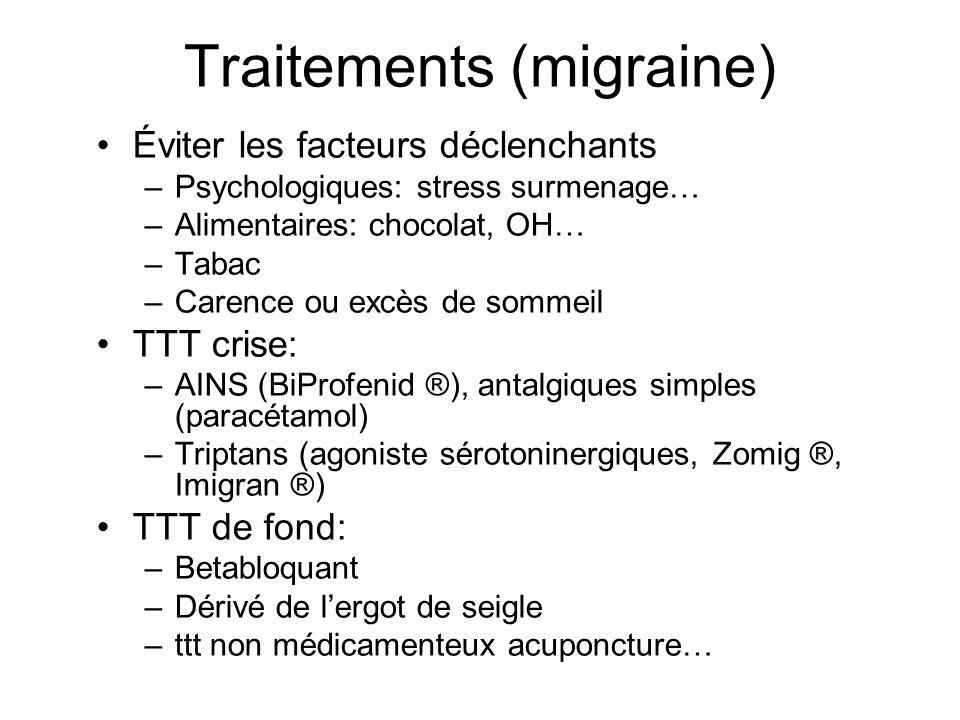 Traitements (migraine)