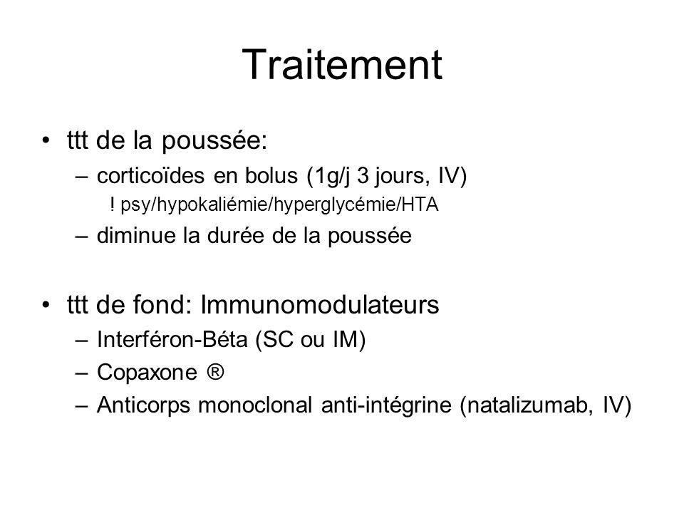 Traitement ttt de la poussée: ttt de fond: Immunomodulateurs