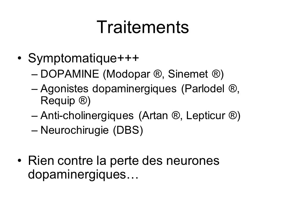 Traitements Symptomatique+++
