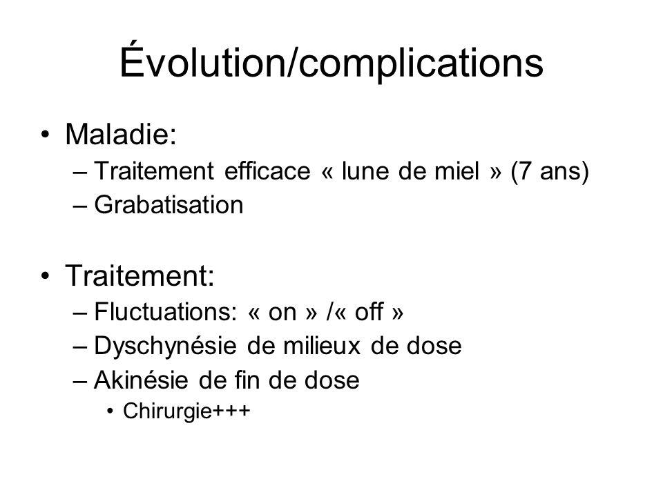 Évolution/complications