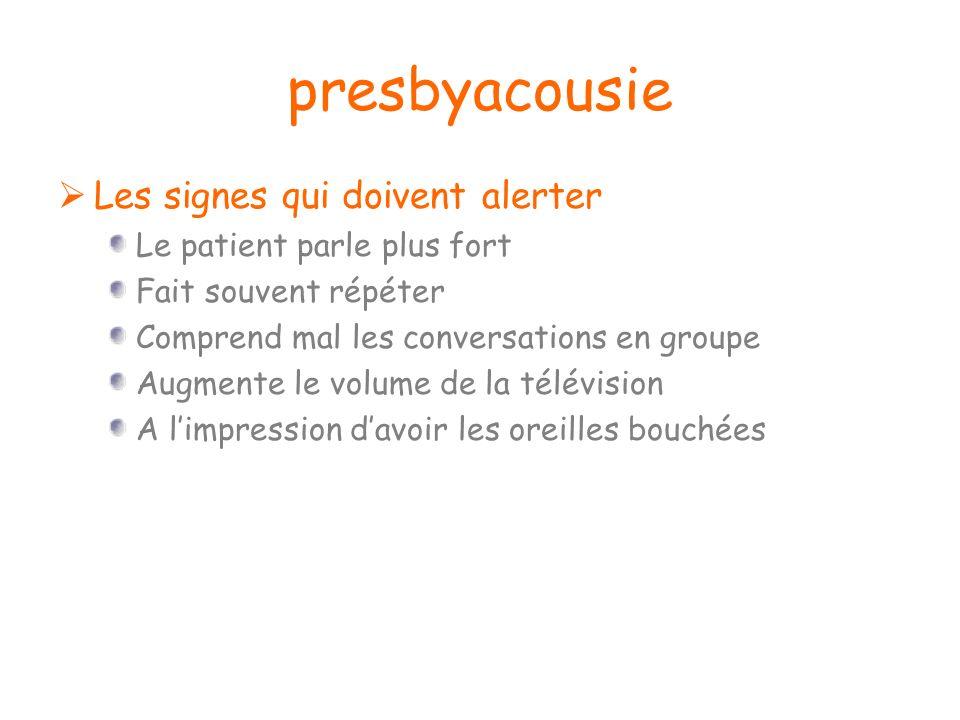 presbyacousie Les signes qui doivent alerter