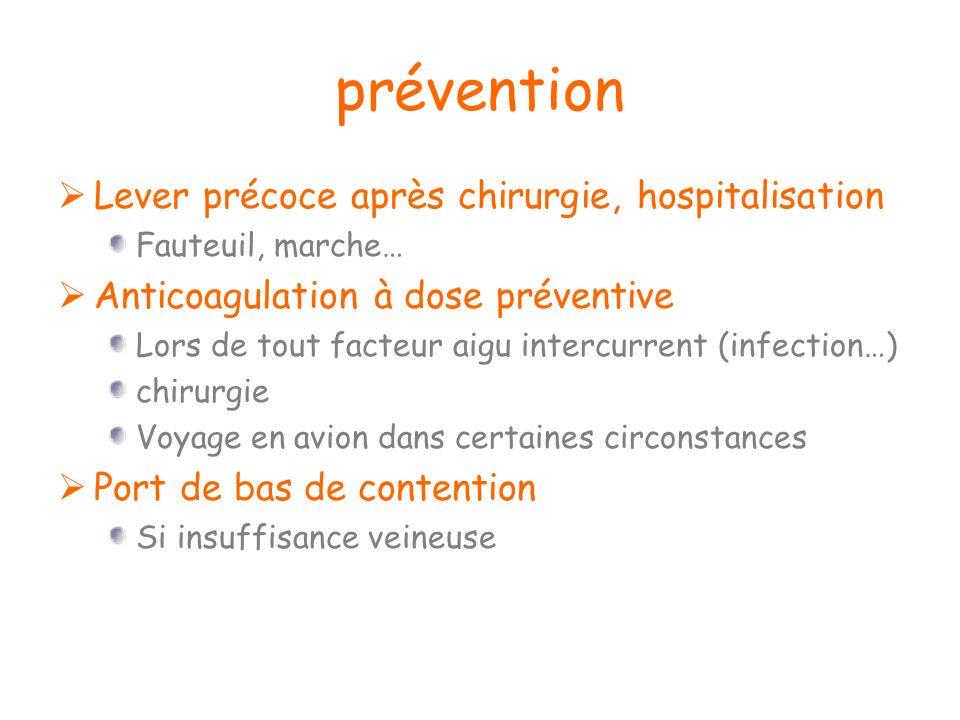 prévention Lever précoce après chirurgie, hospitalisation