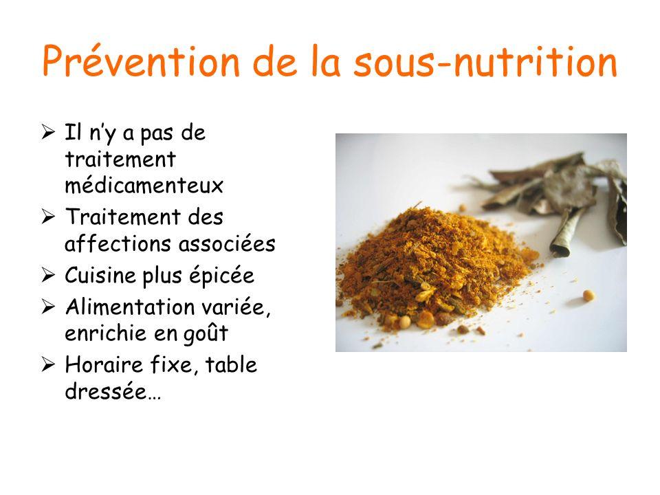 Prévention de la sous-nutrition