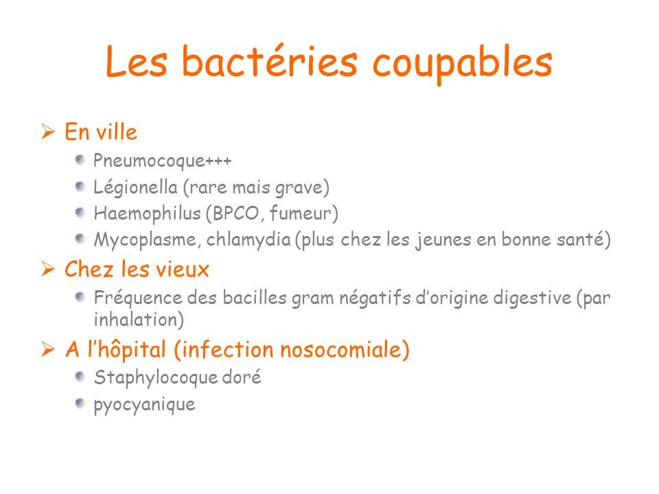 Les bactéries coupables