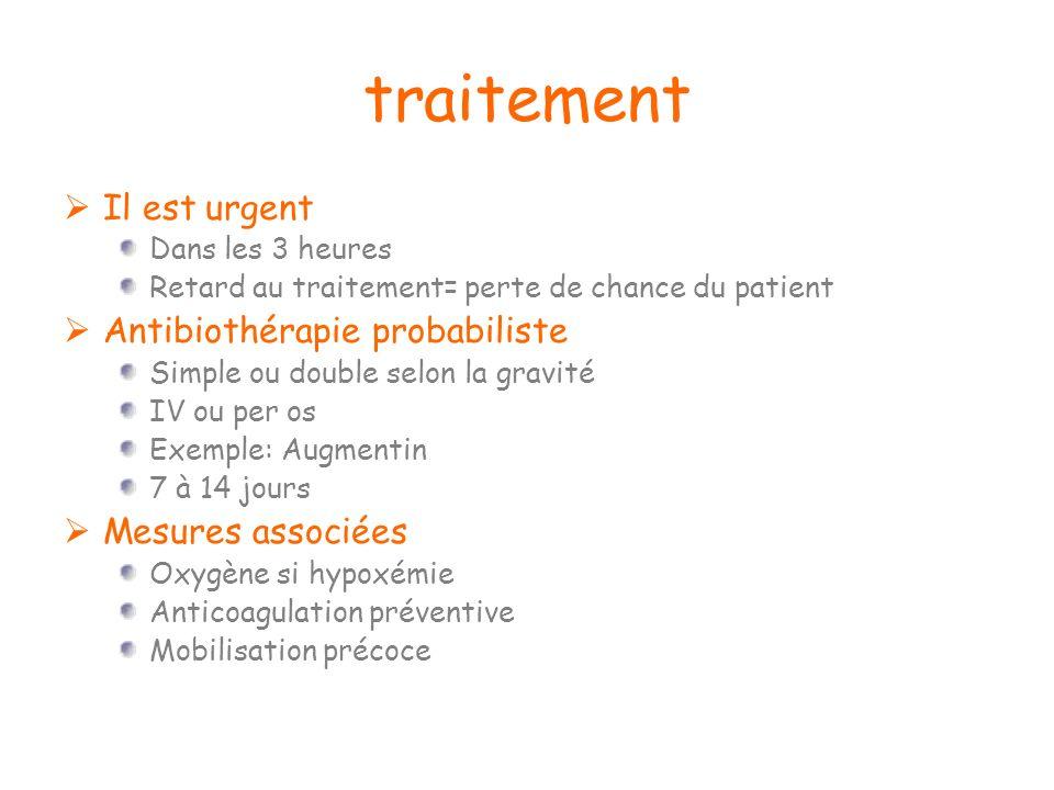 traitement Il est urgent Antibiothérapie probabiliste